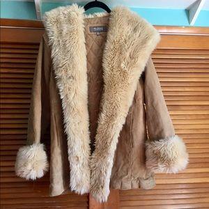 Penny Lane Coat faux fur leather jacket hooded